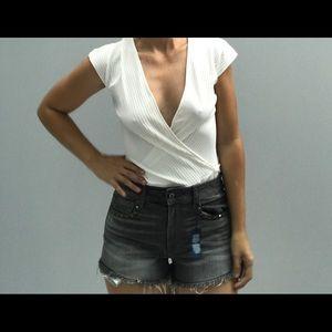 Zara Collection White Bodysuit